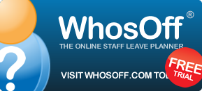 Our online staff leave planner, WhosOff